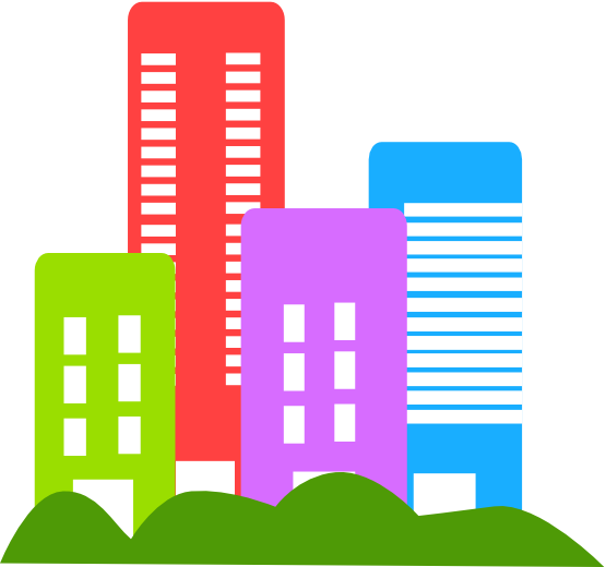 Tall Building Clipart This Colorful Buildings Clip