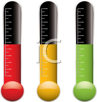 Temperature Clipart 0511 1105 3116 5715 Thermometers With Different