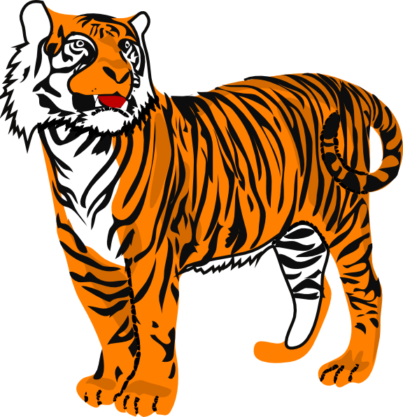 Tiger Clip Art At Clker Com   Vector Clip Art Online Royalty Free