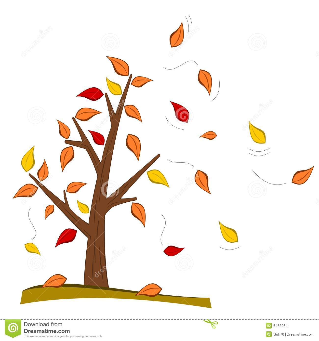 Clip Art Tree With Falling Leaves Clipart - Clipart Kid