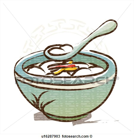 Clipart   Bowl New Year S Day Spoon Traditional Food Korean New