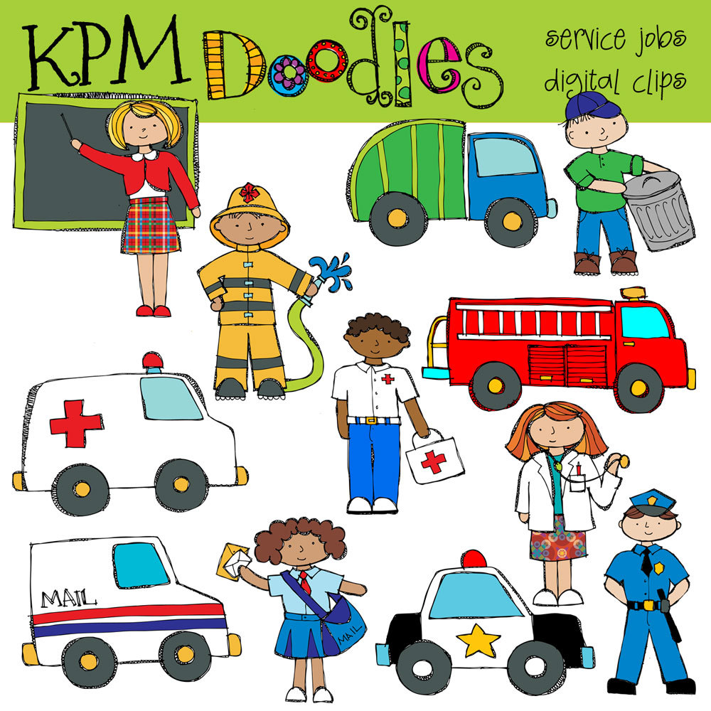 Combo Pack Community Service Digital Clip Art And By Kpmdoodles