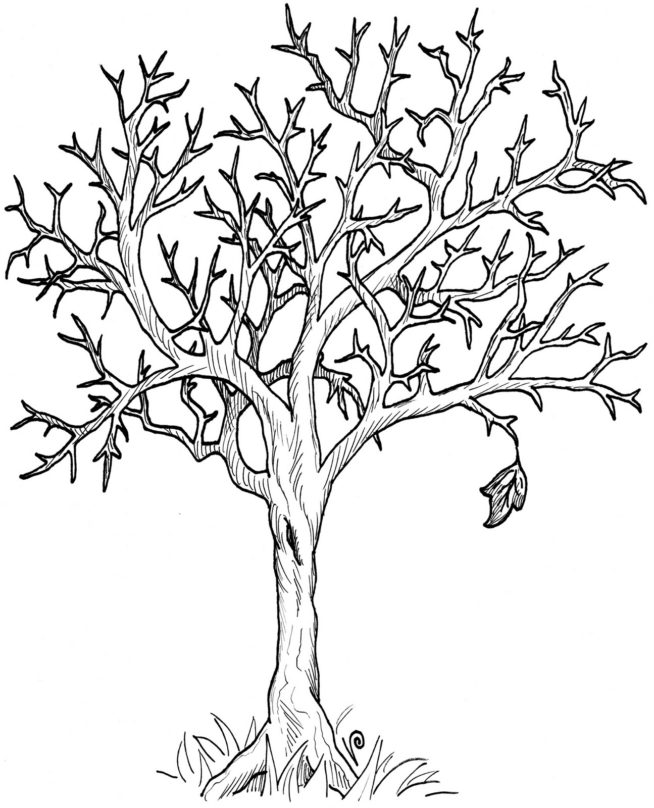 Fall Tree Clipart Black And White Clip Art Club Has Officially