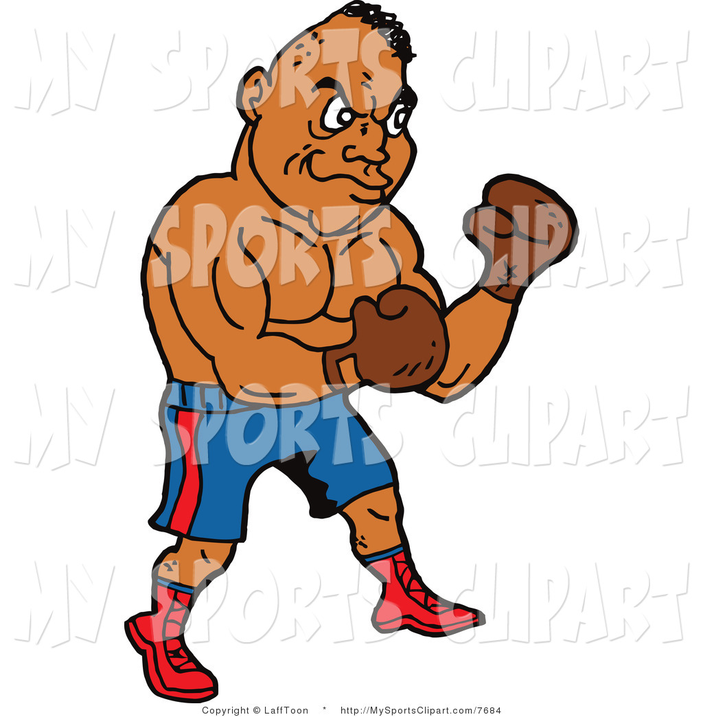 Free Sports Clip Art Of A Strong Male Boxer  This Boxing Stock Sports