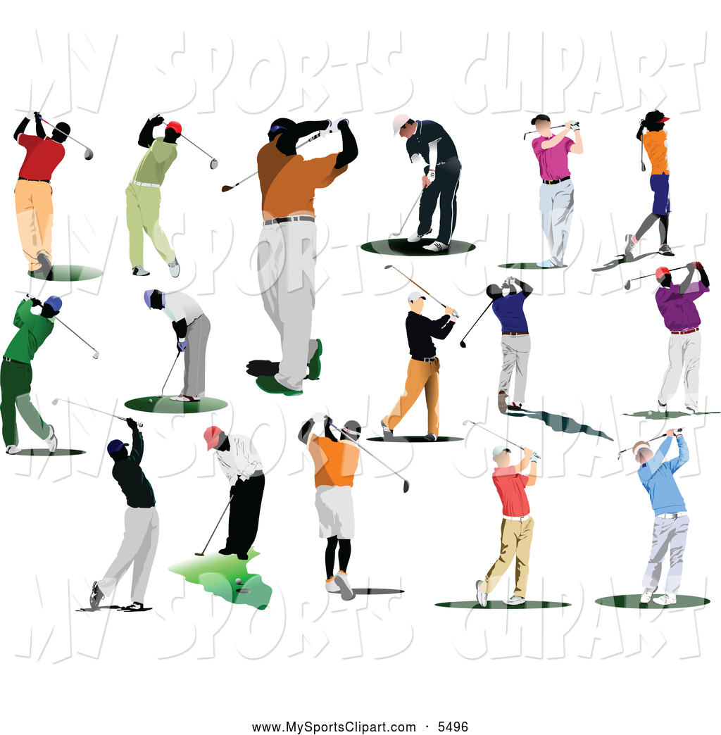 Free Sports Clip Art Of Faceless Golfers  This Golfing Stock Sports