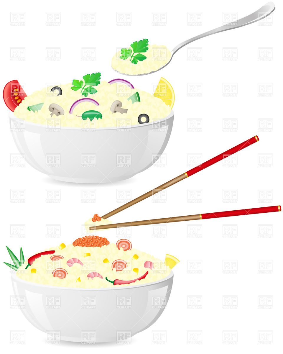Italian And Asian Rice Porridge With Vegetables In Bowl Download