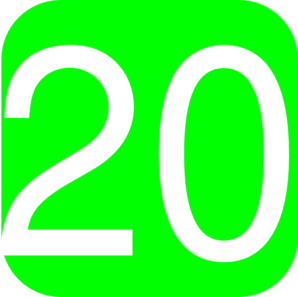 Lime Green Rounded Square With Number 20 Clip Art At Clker Com