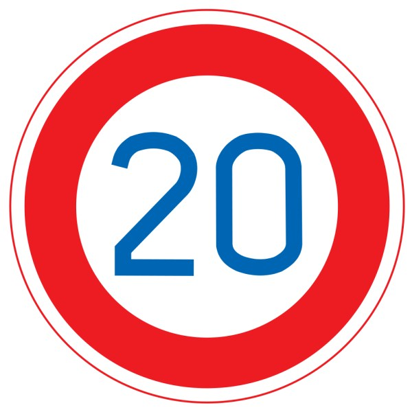 Parking Spot Sign With Number 20 , SKU: K-6325