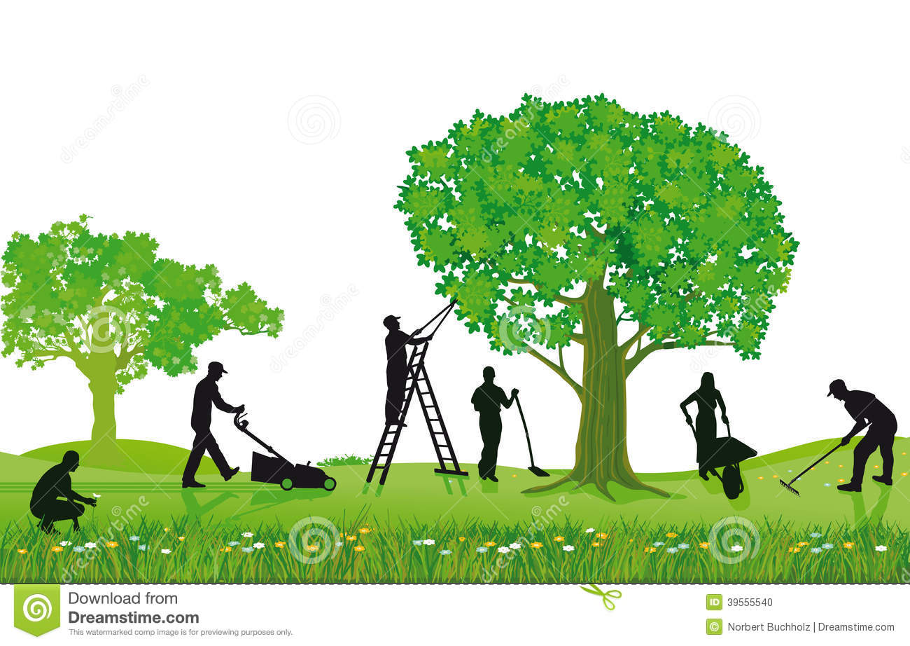 Tree Trimming Business Clip Art