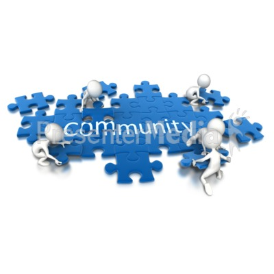 Puzzle Pieces Community Teamwork   Signs And Symbols   Great Clipart