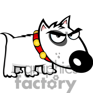 Royalty Free Small Angry Dog Clipart Image Picture Art   384354