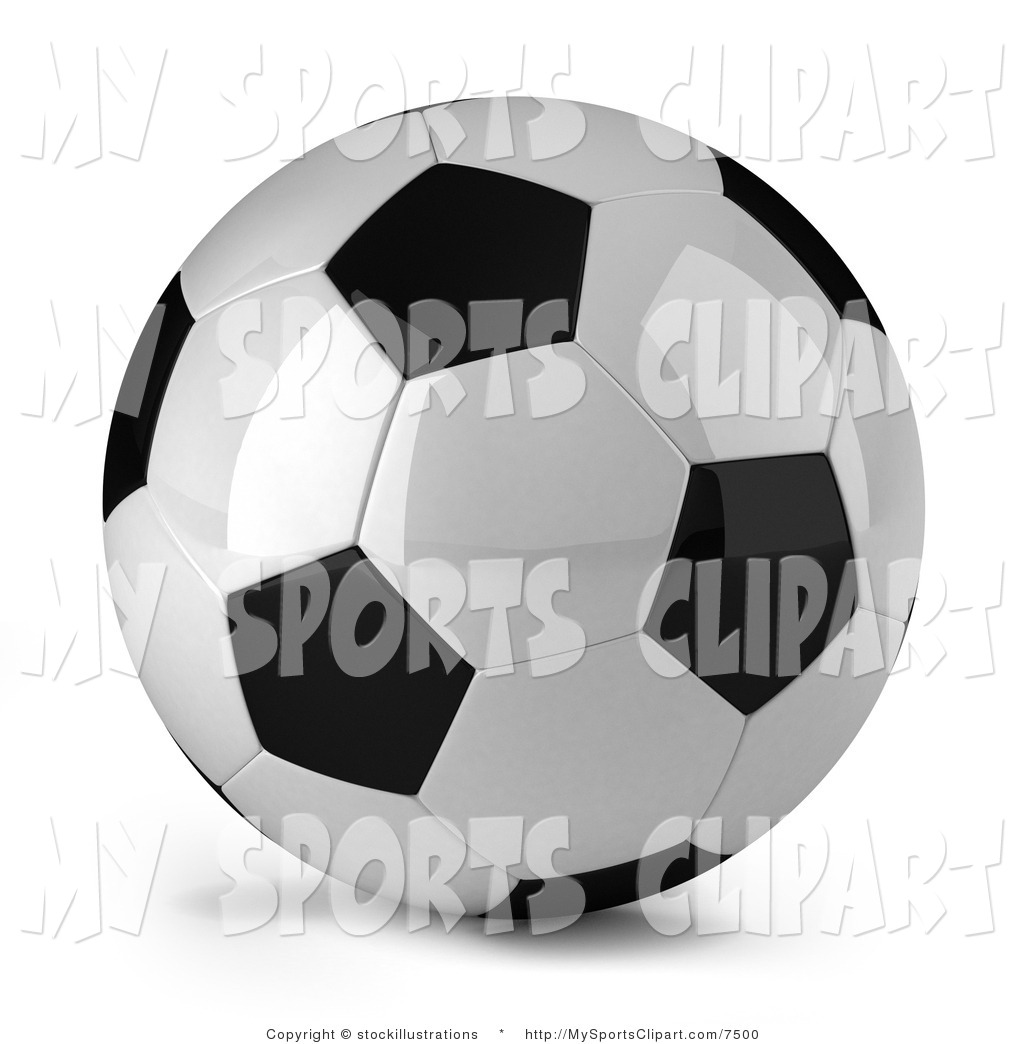 Sports Clip Art Of A Soccer Ball By Stockillustrations    7500