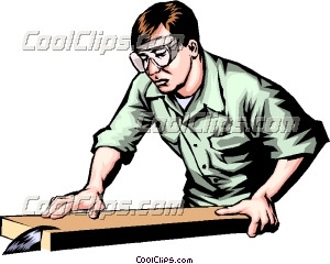 Table Saw Clip Art Man Working With A Table Saw