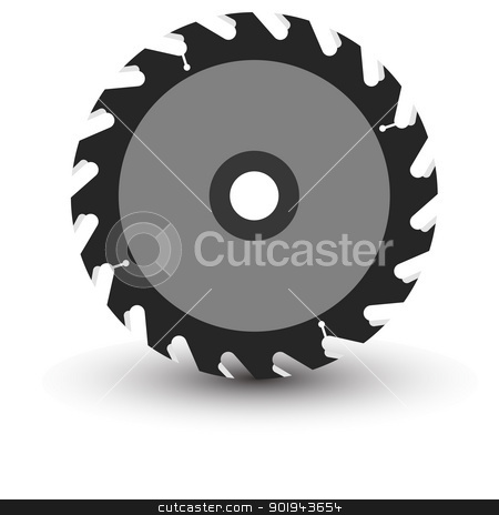 Table Saw Clipart Circular Saw Blade On A White