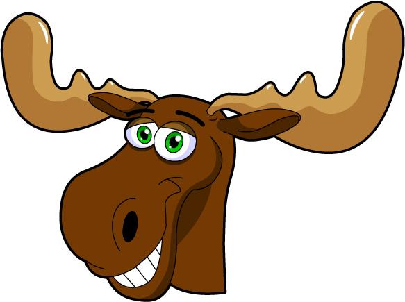 Moose face cartoon - photo#14