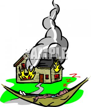 Burning House Clipart - Clipart Kid