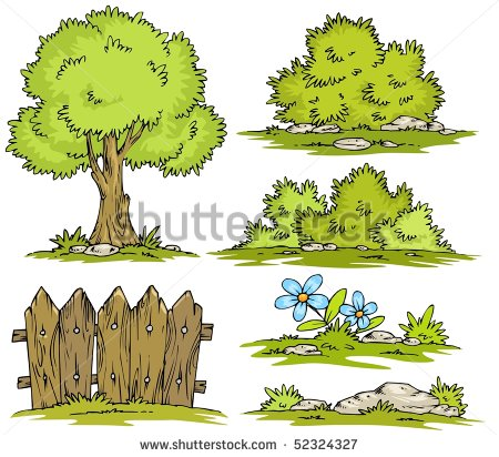 Cartoon Landscape Clipart Stock Vector Illustration 52324327