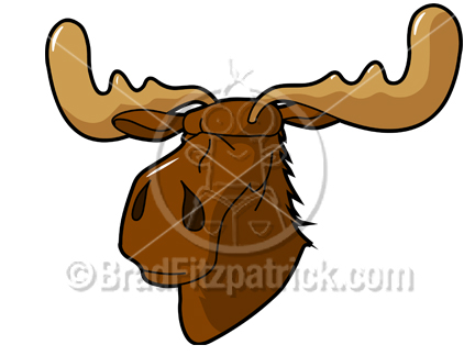 Cartoon Moose Clipart Character   Royalty Free Moose Picture Licensing