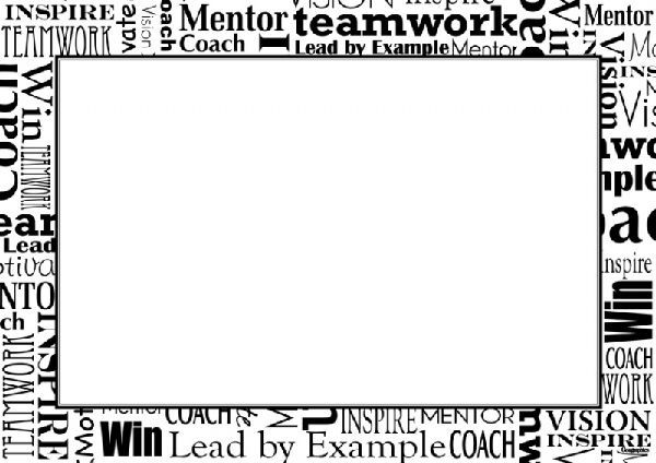 Certificates Words Border Black   White A4 25 Pk