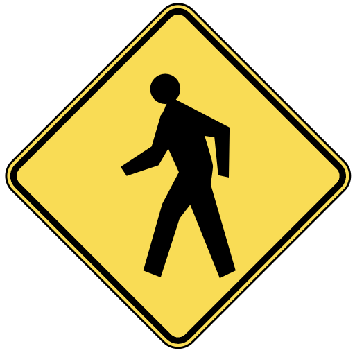 Com Travel Us Road Signs Warning Pedestrian Crossing Png Html