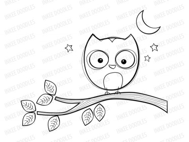 Owl School Black And White Clipart - Clipart Suggest