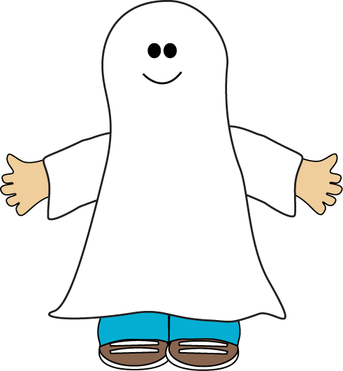 Ghost Clip Art Image   Kid Dressed Up For Halloween In A Ghost Costume