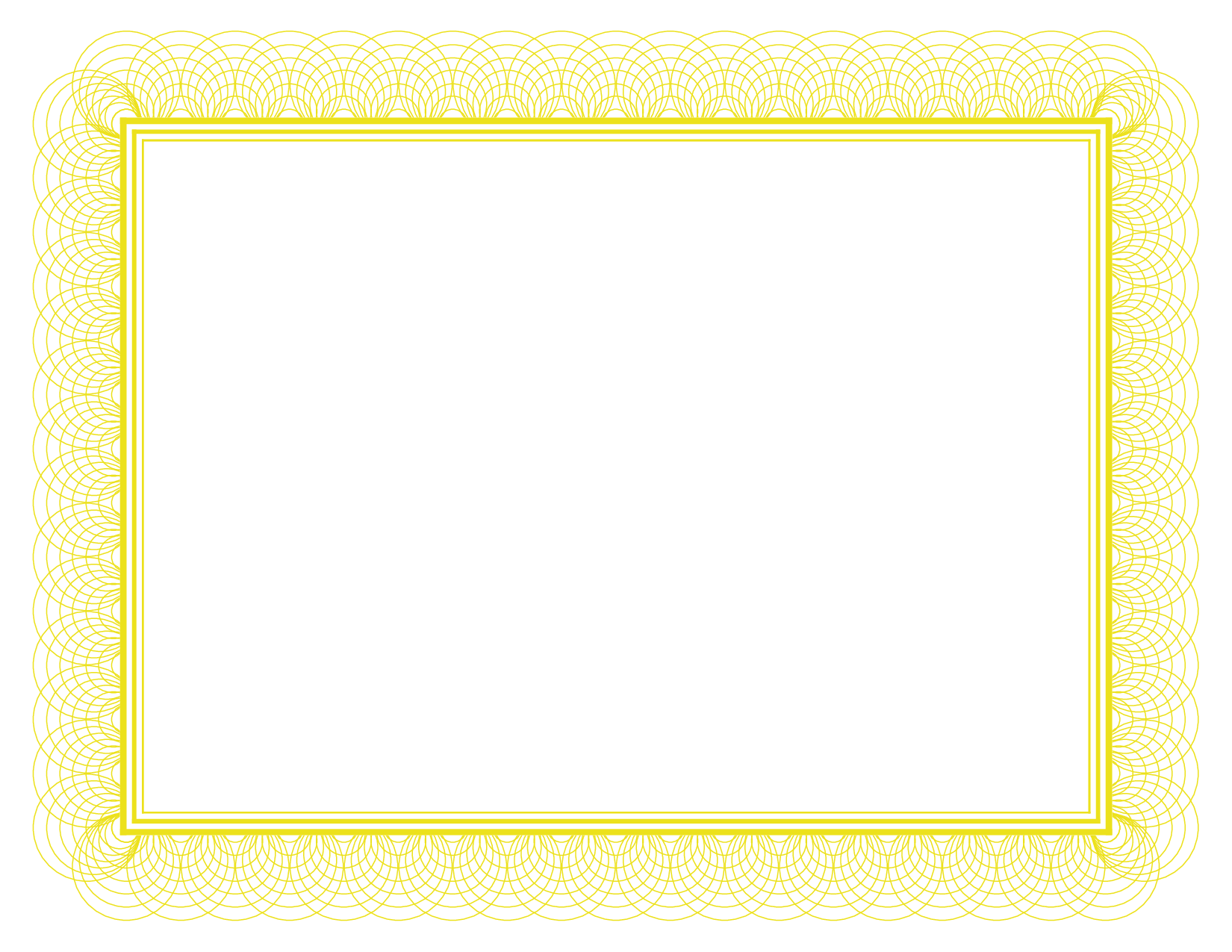 Gold Certificate Border Paper By Bamafun