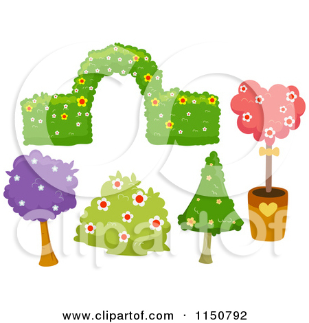 Landscape Bushes Clip Art Designs