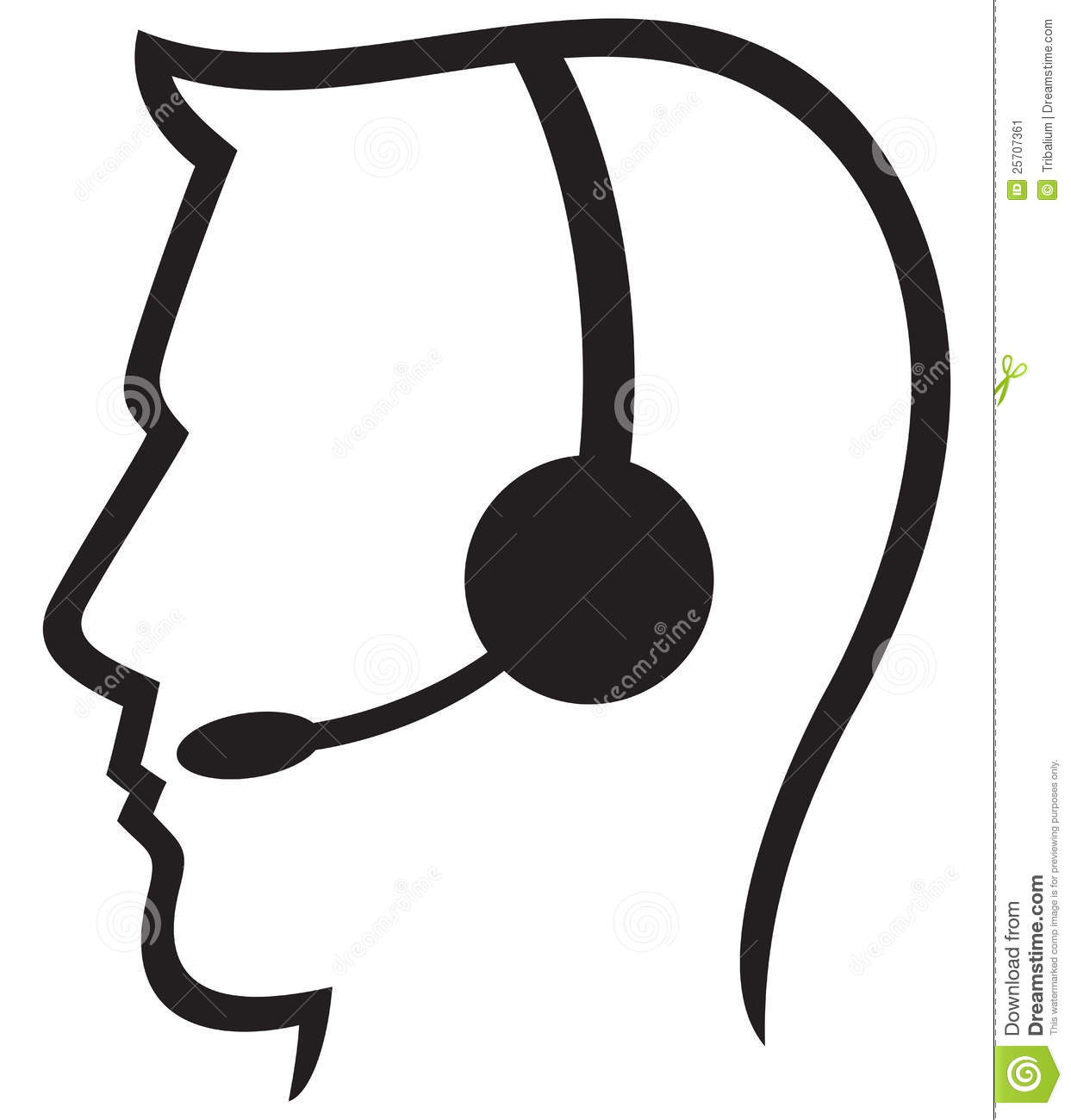 Man Headset Call Center Icon Face With Headset Support Phone