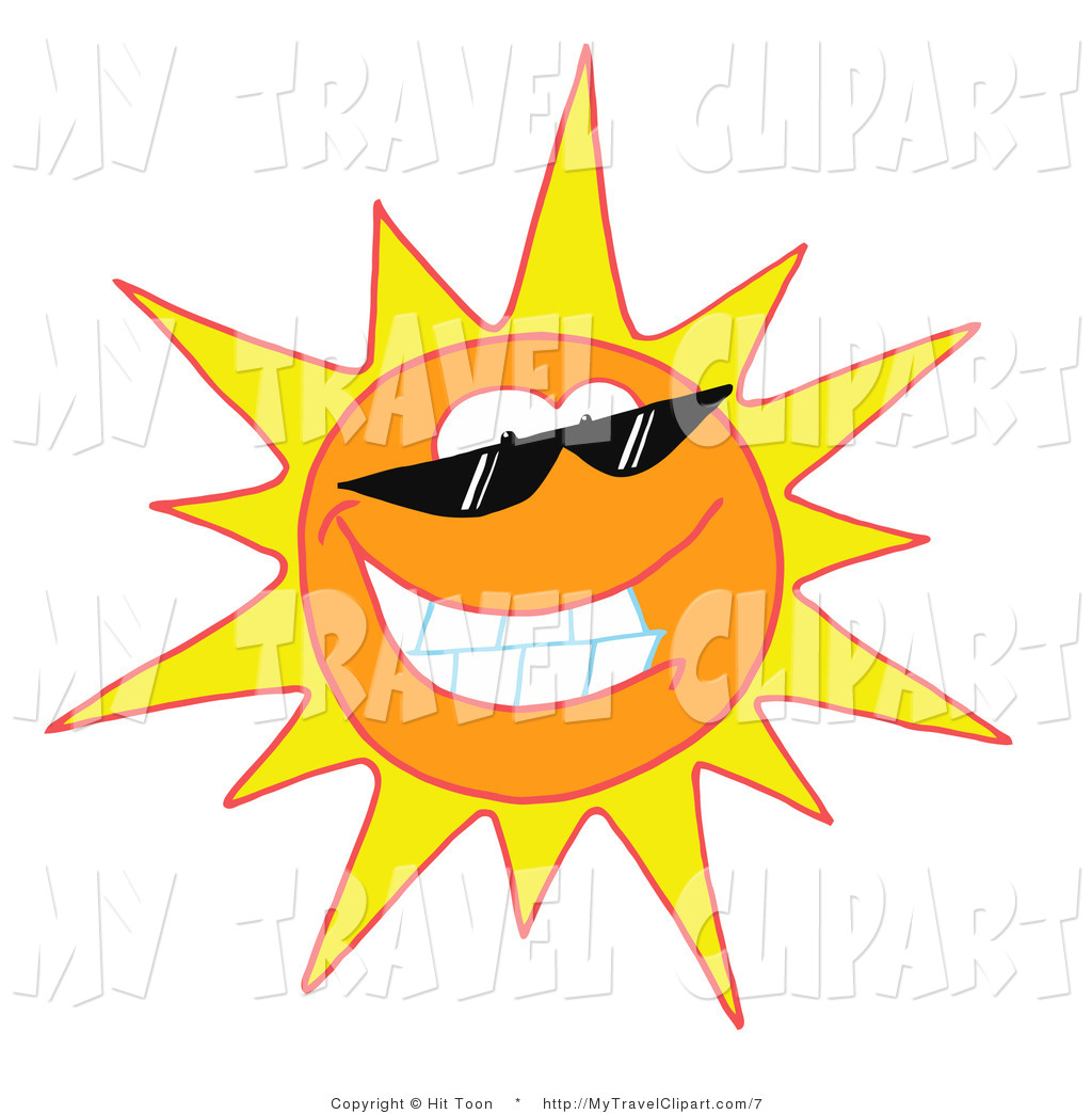 Royalty Free Clipart Of A Sun Wearing Shades This Sun
