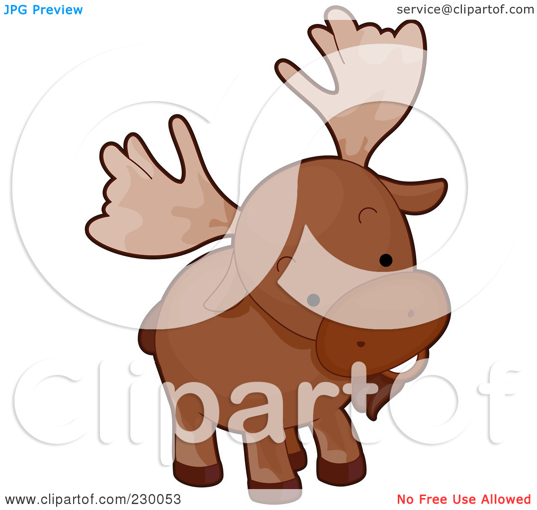 Royalty Free  Rf  Clipart Illustration Of A Cute Curious Moose By Bnp