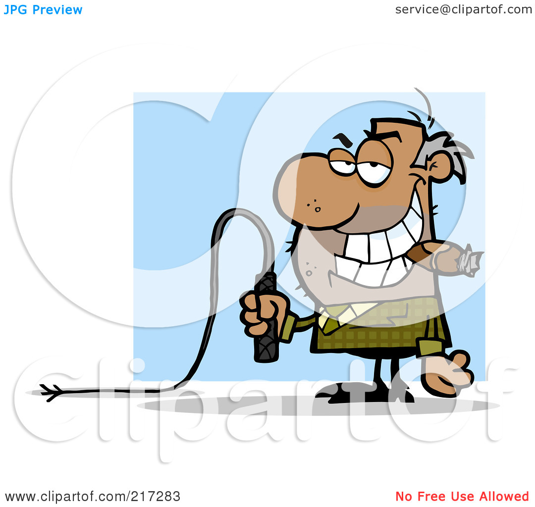 mean boss clipart clipart kid royalty rf clipart illustration of a mean black boss holding a
