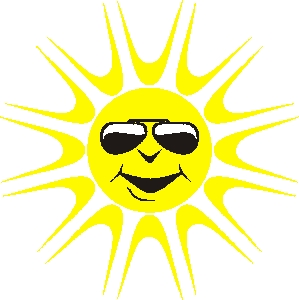 Sunlight Clipart Hot Sun With Coolers1 Jpg