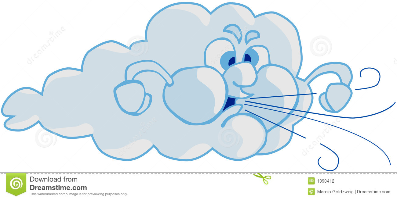 Wind And Cloud Stock Photography   Image  1390412