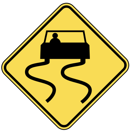 Wpclipart Com Travel Us Road Signs Warning Warn 3 Slippery Png Html