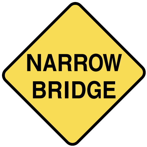 Www Wpclipart Com Travel Us Road Signs Warning Narrow Bridge Png Html