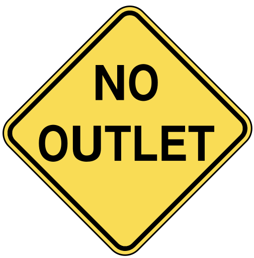 Www Wpclipart Com Travel Us Road Signs Warning No Outlet Png Html