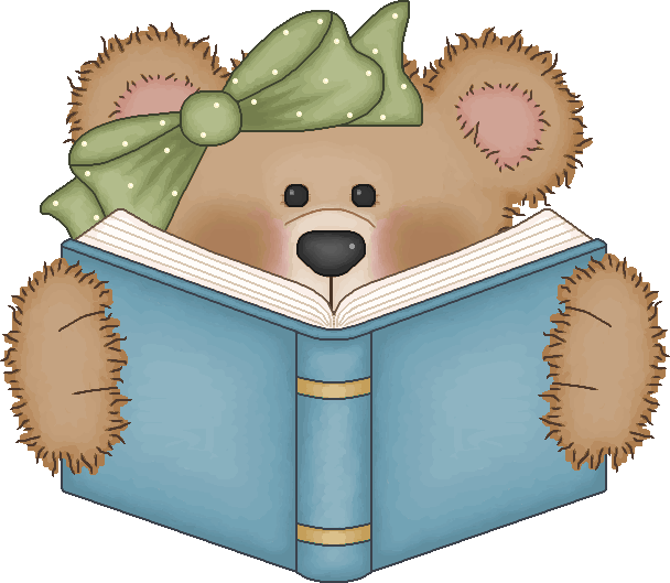 Bear Reading A Book