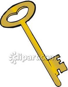 Brass Clipart Old Fashioned Brass Key Royalty Free Clipart Picture