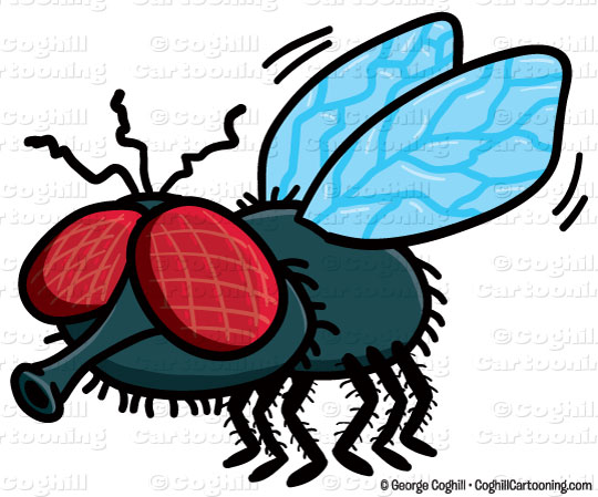 Cartoon Fly Clipart Graphic   Royalty Free Vector Clip Art Stock Image