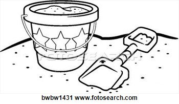 Clipart   Pail And Shovel  Fotosearch   Search Clipart Illustration