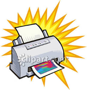 Color Computer Printer   Royalty Free Clipart Picture