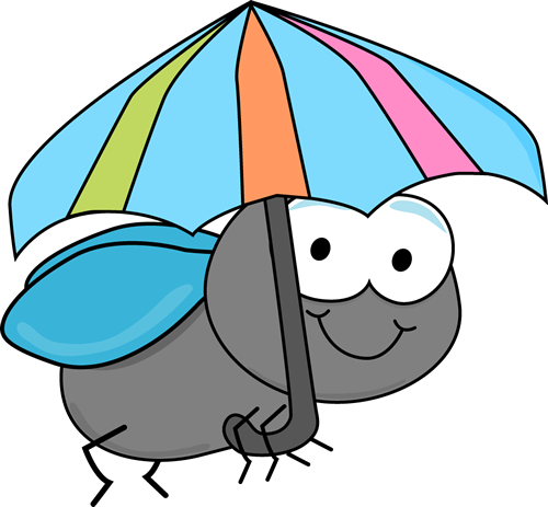 Cute Fly Clipart Fly And Umbrella Clip Art