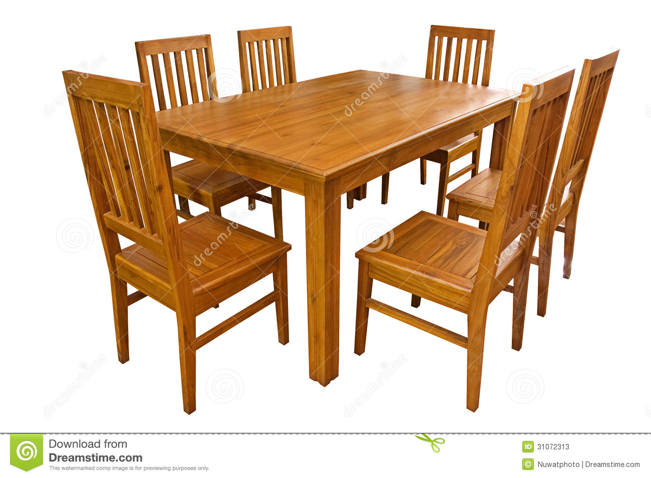 Dining Table And Chairs Isolated Stock Photos   Image  31072313