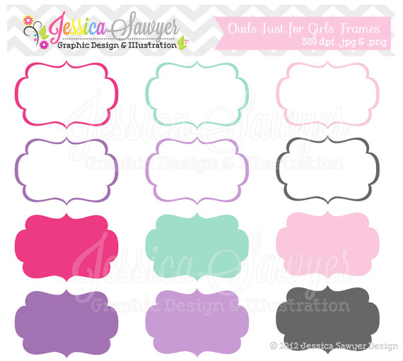 Download Just For Girls Labels Tag Clipart Printable Labels Pink