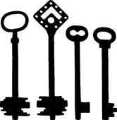 Fancy Skeleton Key Clipart Old Fashioned Skeleton Keys