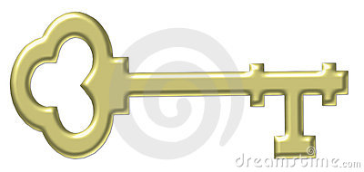 Gold Old Fashioned Skeleton Key Royalty Free Stock Photo   Image