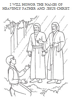 Honor The Names Of Heavenly Father   Jesus Christ   Coloring Sheet