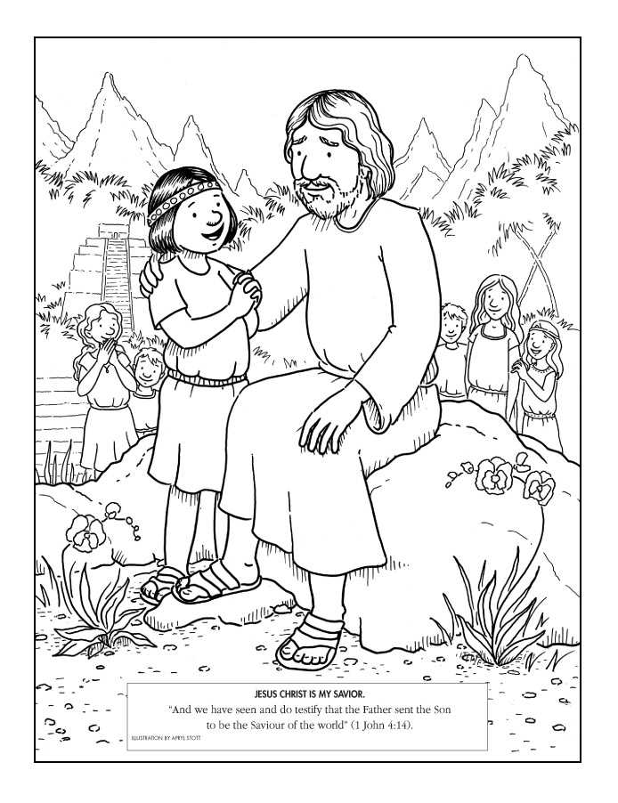 Jesus With A Child In A Book Of Mormon Setting