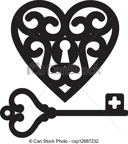 Key Csp12687232   Search Clip Art Illustration Drawings And Clipart